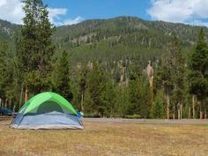 Camping in Yellowstone Tips - Camping Tourist Camping In Maine, Yellowstone Camping, Florida Camping, Camping Spots, Yellowstone National Park, Camping Lights, Tent Camping, Outdoor Camping, Used Camping Trailers