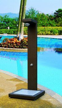 Shower Outdoor Pool Decks Cool Pools Projects Ideas