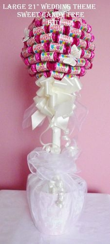 Large DIY Sweet Candy Tree Kit- ideal for Candy Buffet,Birthday, Gifts.not feeling the crap on the bottom, but otherwise quite novel. Sweet Bouquets Candy, Candy Bouquet, Wedding Sweets, Diy Wedding, Wedding Gifts, Wedding Ideas, Candy Trees, Sweet Carts, Sweet Trees