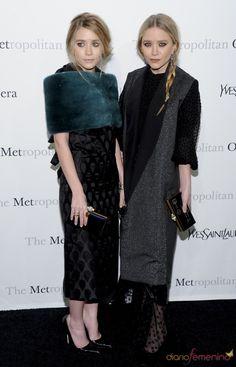 Mary-Kate Olsen and Ashley Olsen. Las guapas gemelas acudieron, con gafas de sol y vestidos de gala, a la ópera del Museo Metropolitano.