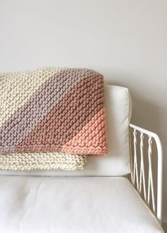 Ravelry: Colorful Corner Blanket pattern by Purl Soho Knitting Patterns Free, Free Knitting, Baby Knitting, Free Pattern, Knitted Afghans, Knitted Baby Blankets, Knitting Projects, Crochet Projects, Granny Square Blanket