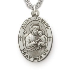 St. Joseph, Patron of Carpenters, Sterling Silver Medal http://www.truefaithjewelry.com/sm8842sh.html