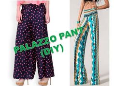 How to Make Palazzo Pants | Teach Me Fashion - YouTube