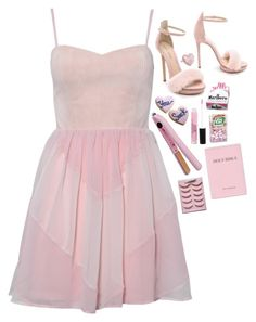 """AFRAID"" by elizaxxm44s ❤ liked on Polyvore featuring Tarina Tarantino, Stila, Coco's Fortune, Monique Lhuillier and Edition"