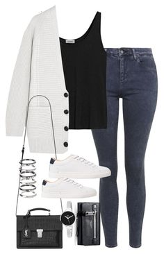"""""""Sin título #5221"""" by marym96 ❤ liked on Polyvore featuring Topshop, Totême, Proenza Schouler, Yves Saint Laurent, MANGO, M.N.G, Marc Jacobs and Christian Van Sant"""