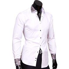 7b3b89ee897 Рубашка Venturo приталенная цвет белый в восточных огурцах ...