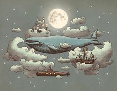 Ocean Meets Sky by Terry Fan, Canadian illustrator and brother of illustrator Eric Fan