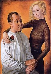 Painter Hans Theo Richter and his Wife Gisela 1933- Otto Dix