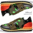 Today's Hot Pick :14SSVALENTINOCamouflage Studded Sneakers(Neon Green   Orange)GYS00723 G03 http://fashionstylep.com/SFSELFAA0006070/wiberluxen/out Camouflage running sneakers from Valentino. Made with superior durability in a lace-up front style, brand patched tongue with thick chunky soles and a comfy, breathable fit. Designed with expert stitches, neon green and orange tones with their signature stud accent and suede panels. Wear with your cargo pants and camo jacket for full military ...