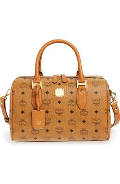 MCM 'Medium Heritage Boston' Coated Canvas Satchel---I want this in Black!