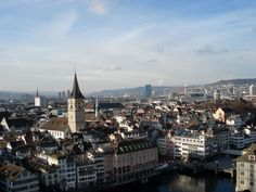 Looking down on Zuerich @Anita/ @travelitach