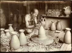 """The Potter at his Wheel by The National Archives UK, via Flickr...ca. 1907 """"The Unknown Craftsman"""""""