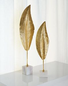 Golden Leaf Sculptures by John-Richard Collection at Horchow.
