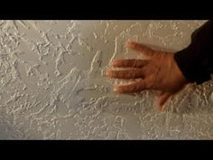 KNOCKDOWN CEILING TEXTURE (HOW TO APPLY WITH PLASTIC BAG) - YouTube