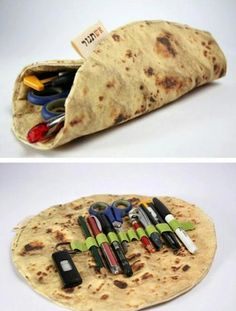 home accessory pencil case back to school stationary wrap food funny burito tumblr outfit