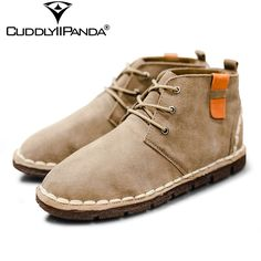 2017 Spring British Style Suede Leather Chelsea Boots Vintage Men Martin Boots Retro Vintage High Top Ankle Boots Botas Hombre