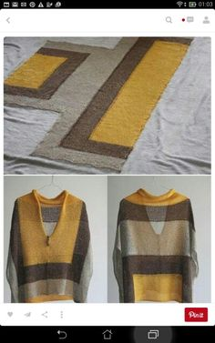 Machine knitted as Intarsia in two pieces with short rows? Cast on would be lower part of the longest side.