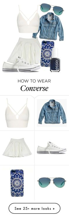 """""""Summer fun in the summer sun"""" by freedom2095 on Polyvore featuring Milly, Lucky Brand, Converse, Essie, Topshop, Tiffany & Co. and plus size clothing"""