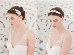 Flower Diamante Heapieces - Boho and Deco Inspired Accessories Collection 2015 from Britten Weddings | Styling & photography by http://goochandgawler.com/