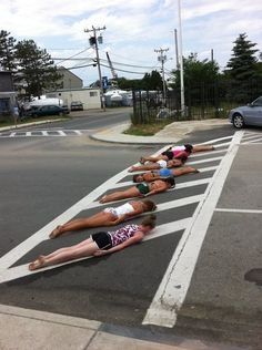 Planking on the street!