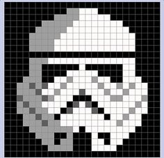 Star Wars Stormtrooper Pixel Blanket - Star Wars Stormtroopers - Ideas of Star Wars Stormtroopers - storm trooper pixel blanket Crochet Afghans, Crochet Blanket Patterns, Crochet Granny, Baby Blanket Crochet, Cross Stitch Patterns, Pixel Crochet Blanket, Crochet Baby, Crochet Pixel, Star Wars Crochet