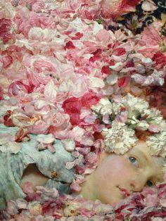 Sir Lawrence Alma-Tadema - Les Roses d'Heliogabale - detail