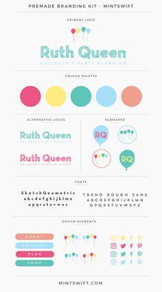 $99 | Ruth Queen Premade Branding Kit | MintSwift