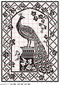 How to create a filet crochet pattern from a photo using Photoshop Cross Stitch Bird, Cross Stitch Animals, Cross Stitch Charts, Cross Stitch Designs, Cross Stitching, Cross Stitch Embroidery, Cross Stitch Patterns, Crochet Patterns, Needlepoint Patterns
