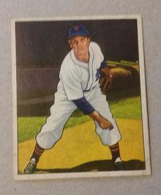 Vintage 1950 Bowman Virgil Trucks Baseball Card