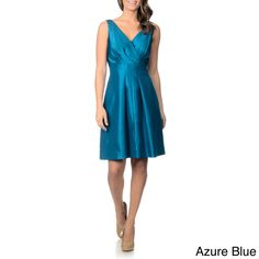 Tahari Arthur S. Levine Women's Criss-cross Pleated Bust Dress - Overstock™ Shopping - Top Rated Evening & Formal Dresses