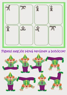 Visual Perception Activities, Clown Crafts, Le Clown, Circus Theme, Two Year Olds, Preschool Activities, Games For Kids, Mardi Gras, Clip Art