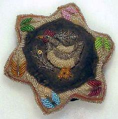 Antique Iroquois beaded Pincushion.