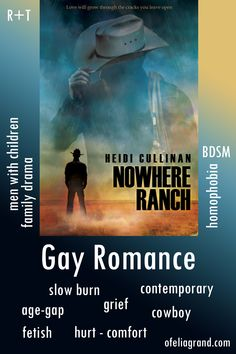 Nowhere Ranch by Heidi Cullinan - contemporary gay romance books, cowboy mmromance #mmromance #gayromancebooks Slow Burn, Reading Challenge, Character Names, What To Read, Romance Books, First Names, Grief, Burns, Ranch
