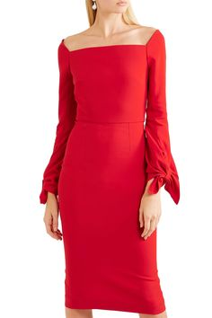Shop on-sale Mapplewell bow-detailed crepe dress. Browse other discount designer Knee Length Dress & more luxury fashion pieces at THE OUTNET South Indian Actress Photo, Roland Mouret, Crepe Dress, Actress Photos, Discount Designer, Indian Actresses, Dresses For Sale, Luxury Fashion, Bows
