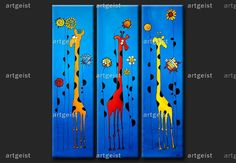 paintings of giraffes - Google Search