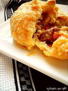 Greek Recipes, Pie Recipes, Danish Recipes, Danish Food, Hand Pies, Cheesesteak, Cooking Time, Veggies, Appetizers