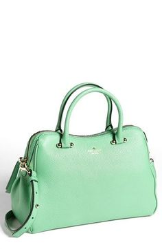 Mint leather satchel - Kate Spade