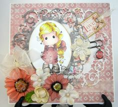 July 2015 DT project for Quick Creations, using Divine Tilda by Magnolia, created by Leah Tees, odetopaper.blogspot.ca