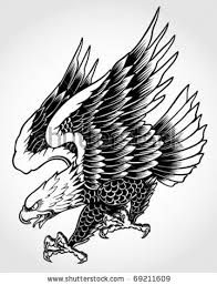 traditional eagle tattoo stencil - Google Search