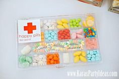 Happy pills for a kids party? Doctor + Nurse Themed Birthday Party - Kara's Party Ideas - The Place for All Things Party Medical Party, Nurse Party, Doc Mcstuffins Birthday Party, Birthday Party Themes, Doctor Party, Party Planning, Party Time, Party Ideas, Happy Pills