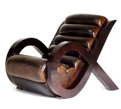 Jean de Merry | 'Luca Chair', Leather and wood.