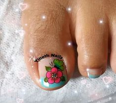 Cute Toe Nails, Cute Toes, Pedicure Nail Art, Toe Nail Art, Feet Nail Design, Toenail Art Designs, Feet Nails, Flower Nails, Lily