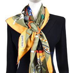 Hermes Scarf Ring, Scarf Rings, Scarf Knots, Diy Scarf, Ways To Wear A Scarf, How To Wear Scarves, Women's Neck Ties, Head Scarf Tying, Head Scarf Styles