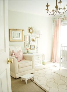pale pink and white girls nursery
