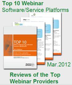Webinar Software/Service Platforms