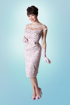 Alika Pencil Pink Dot dress
