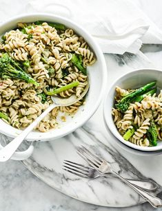 One pot pasta with anchovies and tenderstem broccoli This one-pot pasta recipe is not only low calorie but low cost, too. It's simple and easy to put together; plus it's packed full of punchy flavours. If you don't have fusilli in your cupboard then wholemeal rotini works just as well.