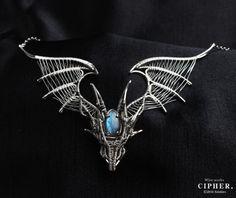 ワイヤーアクセサリーファクトリー Witch Jewelry, Dragon Jewelry, Fantasy Jewelry, Wire Pendant, Wire Wrapped Pendant, Wire Wrapped Jewelry, Unusual Jewelry, Handmade Jewelry, Wire Jewelry Designs