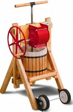 Expedient Cider And Wine Press With Apple Grinder  Hometone