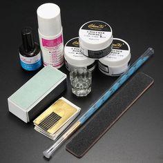 DancingNail Nail Art Acrylic Powder Kits Pen Brush File Liquid Gel Primer Buffer Forms SET * See this great product.